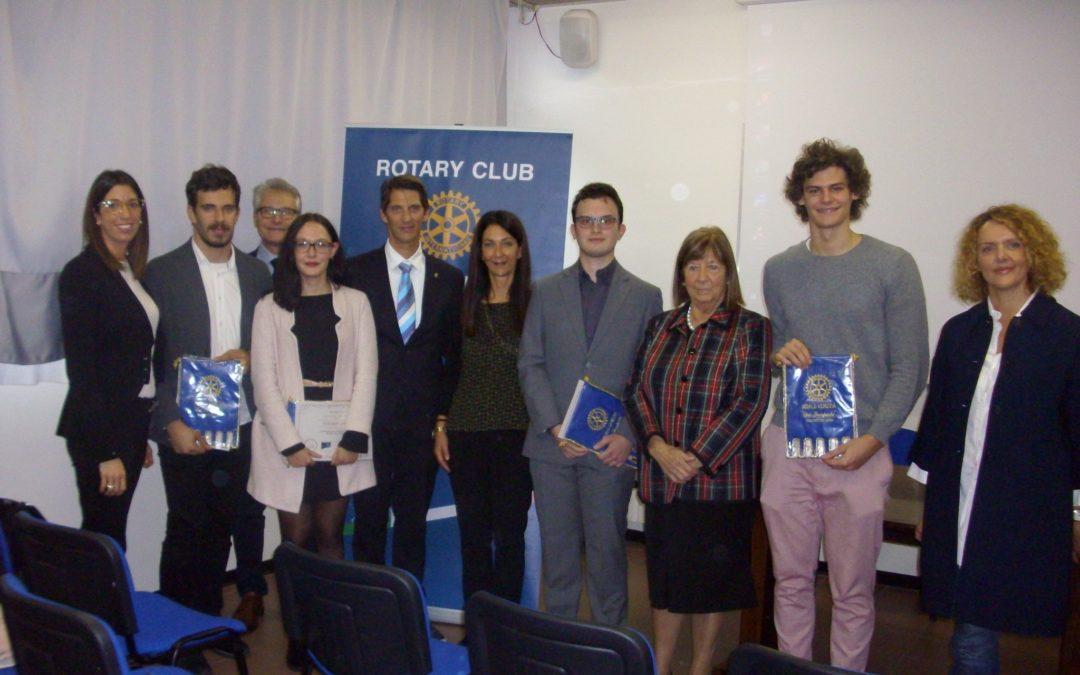 Rotary per i giovani – la premiazione delle borse di studio